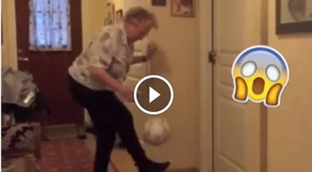 Abuela la rompe haciendo 'dominaditas'