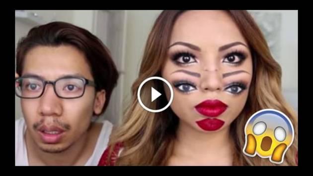 Con este maquillaje crearás una alucinante ilusión óptica