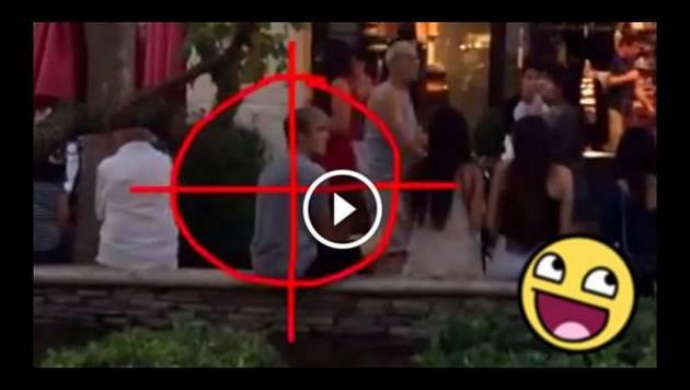 La broma del 'francotirador' se convierte en viral
