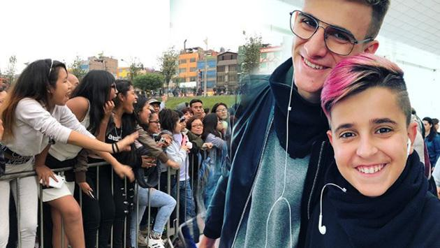 Adexe & Nau desataron la locura con firma de autógrafos en Plaza Norte
