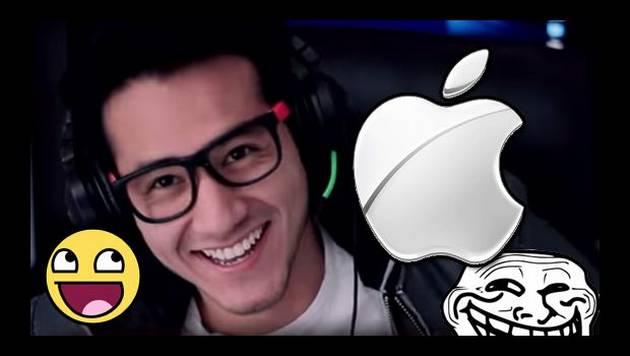 YouTube: AndynSane 'trolea' a Apple por teléfono