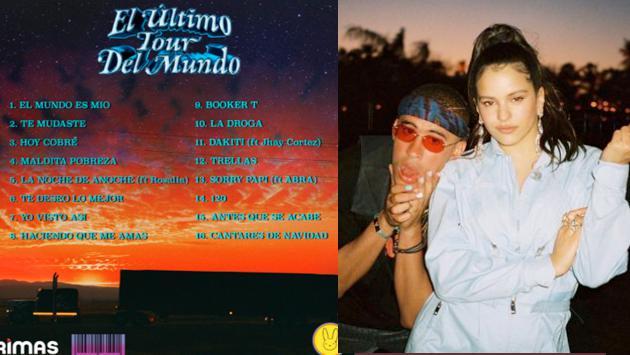 Bad Bunny estrenó disco 'El último tour del mundo' y canción con Rosalía 'La noche de anoche'