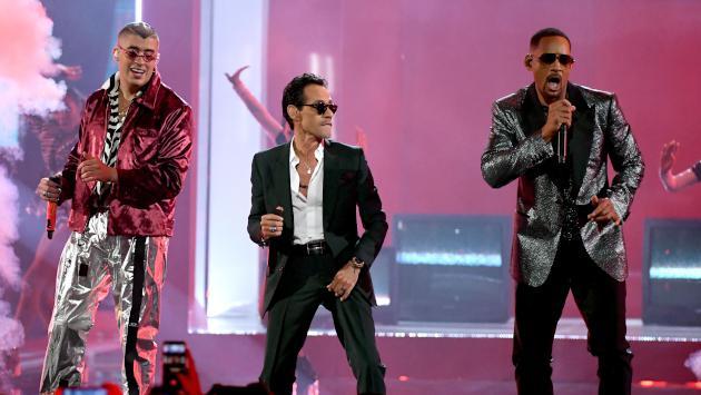 Bad Bunny, Marc Anthony y Will Smith cantaron 'Está rico' en los Latin Grammy