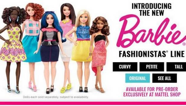 La muñeca Barbie se renueva y presenta cambios radicales en su físico