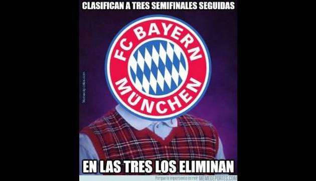 Bayern Munich perdió ante Atlético Madrid la semifinal de la Champions League y le llovieron memes