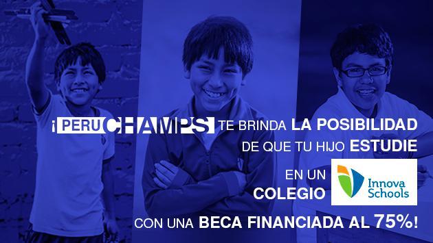 Perú Champs otorga 250 becas para que tu hijo estudie en Innova Schools