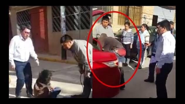 'Chapa a tu choro', Cusco atrapa a ladrón en maletera