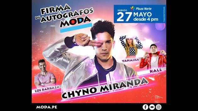¡No te pierdas la firma de autógrafos de Moda con Chyno Miranda!