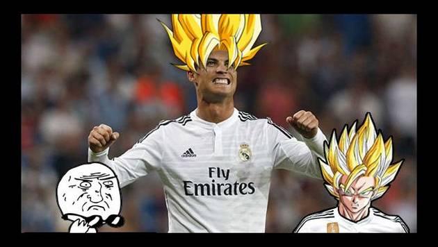 Cristiano Ronaldo se transforma en Super Saiyajín