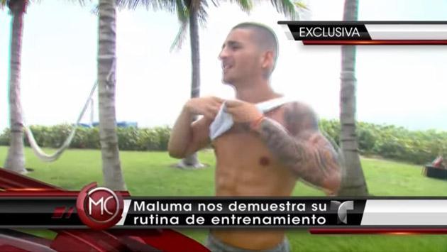 ¿Cuánto le cuesta a Maluma tener ese abdomen marcado? [VIDEO]