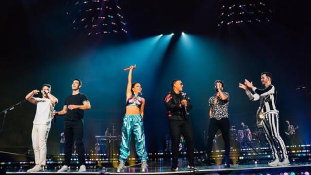 Daddy Yankee, Natti Natasha y Sebastián Yatra se unieron al primer concierto de la gira de los Jonas Brothers