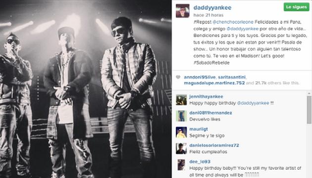 9 saludos de famosos por el cumple de Daddy Yankee