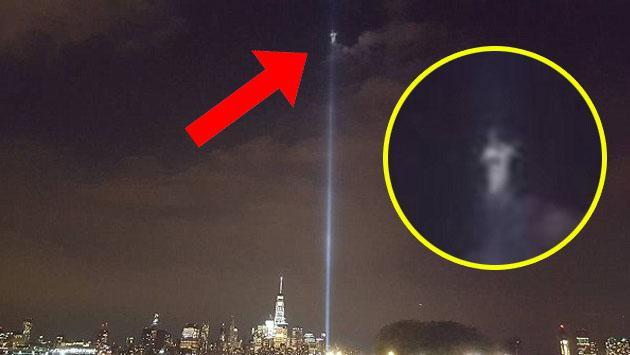 Dicen que un ángel apareció donde antes estaban las Torres Gemelas [VIDEO]