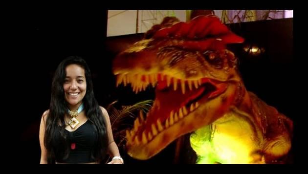Marianita visita a los Dinosaurios Gigantes Animatronics de Mall Plaza Norte