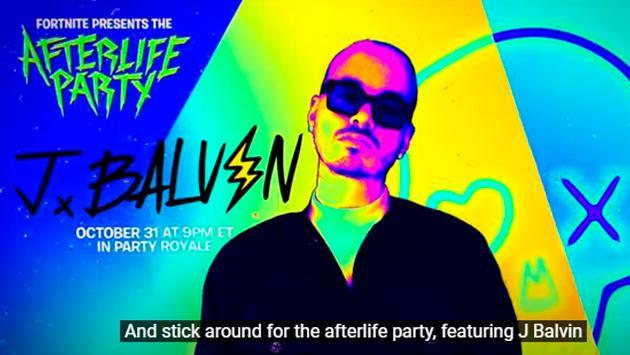 ¡Es oficial! J Balvin dará concierto en Fortnite