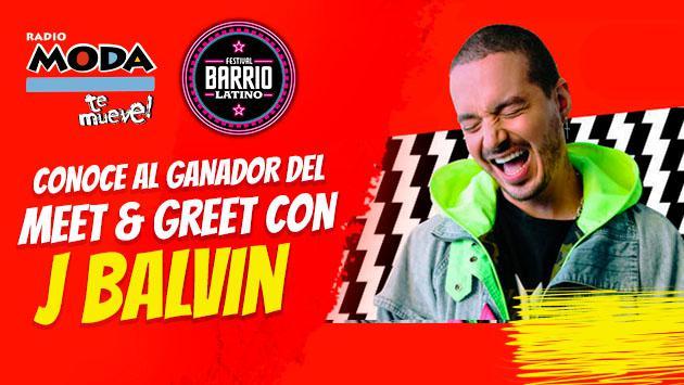 ¡Este es el ganador del pase meet & greet para conocer a J Balvin!