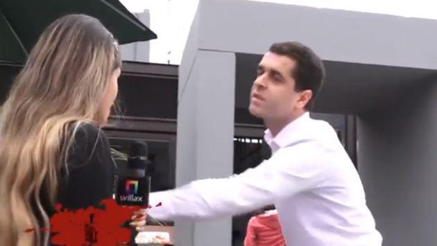 ¡Se pronunció! Extranjero que discriminó a reportera peruana apareció en TV