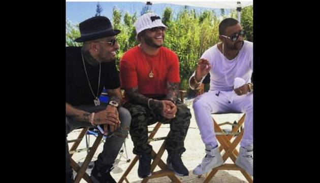 Nicky Jam, Farruko y Shaggy graban videoclip