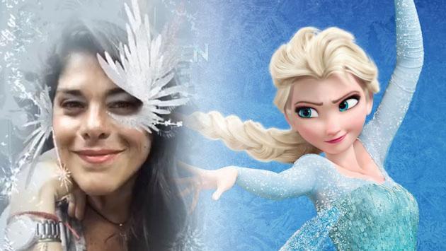 Giovanna Valcárcel en modo 'Frozen' [VIDEO]