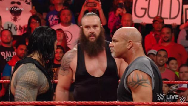 Goldberg reapareció en WWE en la primera edición de RAW de 2017 [VIDEO]