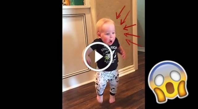 Abuelo casi mata del susto a este pequeño ¡Mira el video!