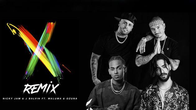 Remix que reunió a Nicky Jam, Ozuna, Maluma y J Balvin es tendencia en estos países