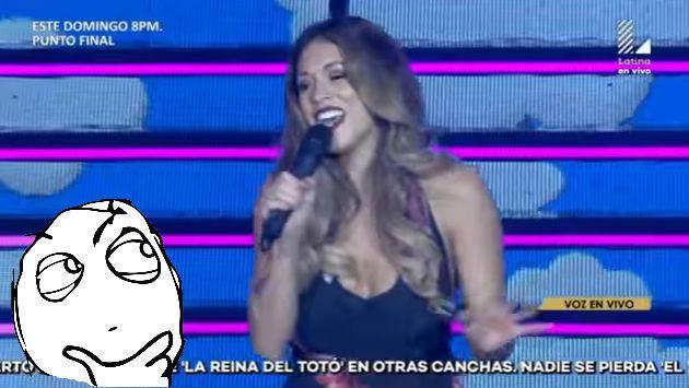 ¿Jazmín Pinedo canta? Mira cómo le fue imitando a esta artista [VIDEO]