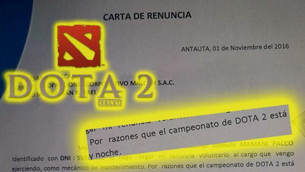 Joven peruano que habría renunciado a su trabajo por el 'Dota 2' causa furor