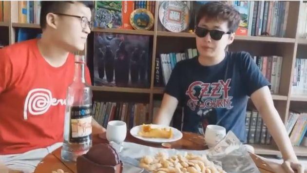 Jóvenes coreanos probaron pisco por primera vez y así reaccionaron