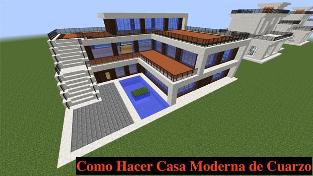 Juegas minecraft mira c mo hacer una casa moderna for Casa moderna jardin d el menzah