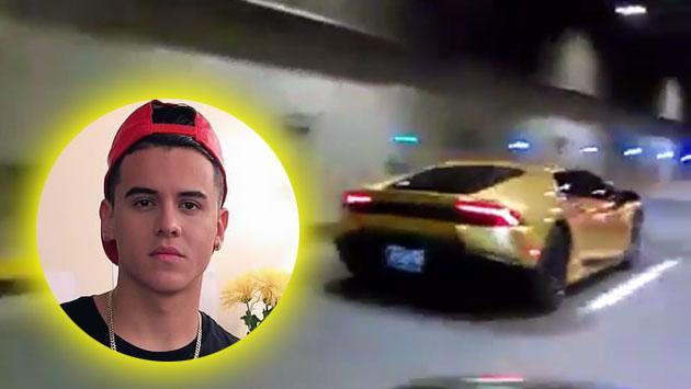 Kevin Rold 225 N Y Su Lamborghini Dorado Queman Las Pistas De Cali Video Noticias Radio Moda