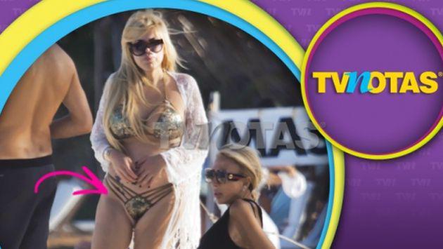 ¡La hija de Laura Bozzo sufrió percance con su bikini y mostró más de la cuenta!