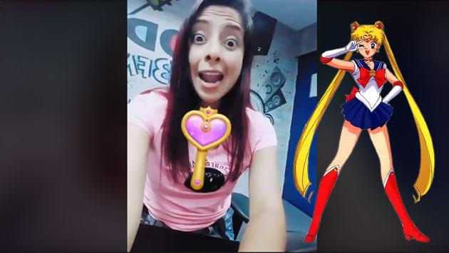 Lesly Carol se transformó en una Sailor Moon [VIDEO]