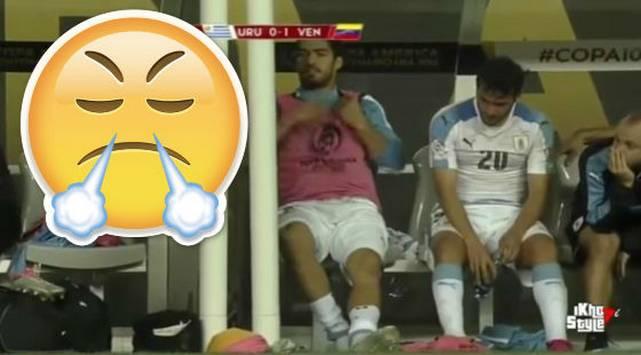 ¡Explotó! Toda la rabia de Luis Suárez al no ingresar al campo [VIDEO]