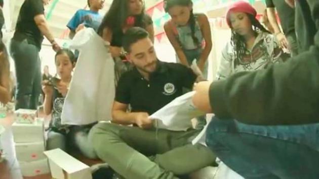 ¡Maluma demostró tener un gran corazón! [VIDEO]