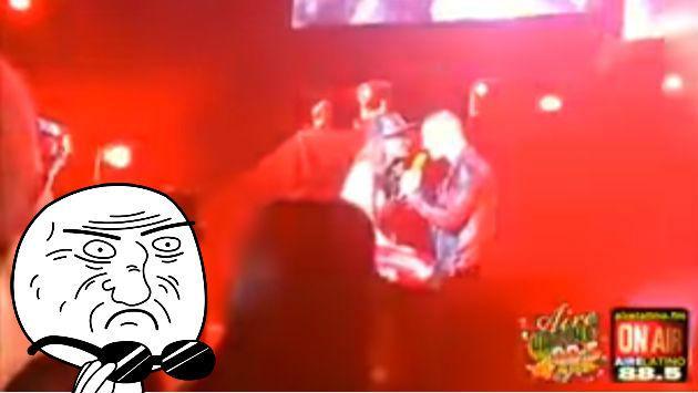 Así fue el beso de Maluma con una fan durante concierto en Puerto Rico