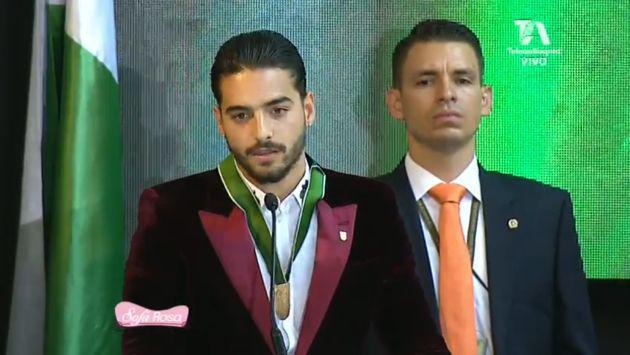 ¡Maluma fue condecorado por la gobernación de Antioquia!
