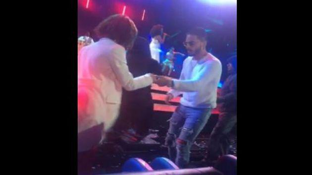 ¡Maluma bailó festejo en Viña del Mar! [VIDEO]