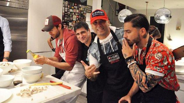 ¿Qué cocinan Maluma, Wisin, Enrique Iglesias y Residente? [FOTOS Y VIDEO]