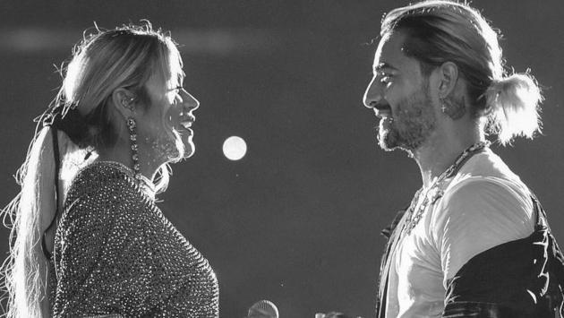 Maluma y Karol G emocionan a sus fans cantando en vivo 'Créeme'