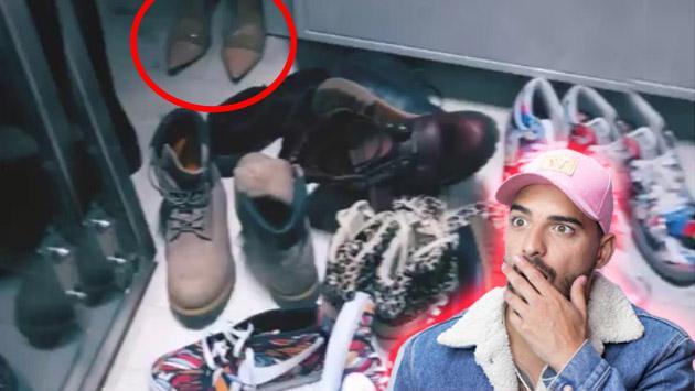 ¿De quién son los zapatos de mujer en el clóset de Maluma?