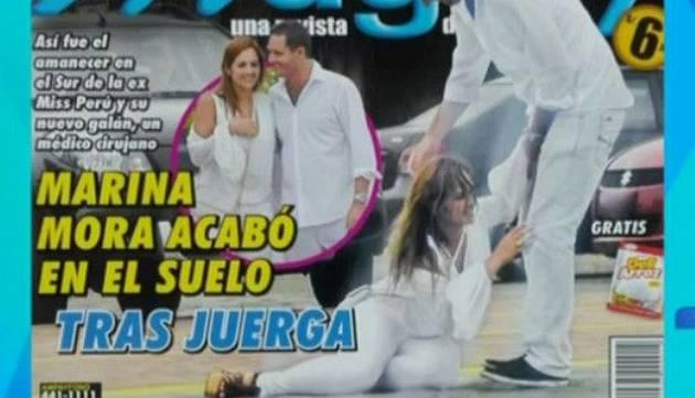 Marina Mora estuvo en el sur, se fue de juerga y terminó en el suelo