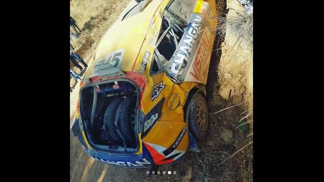 Mario Hart y su accidente de auto en rally de Huancayo [FOTOS Y VIDEO]