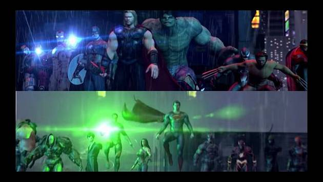 YouTube: superhéroes de Marvel y DC se enfrentan
