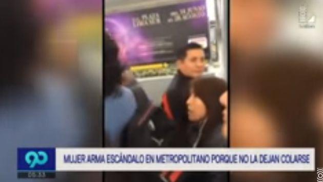 ¡No la dejaron colarse en el Metropolitano y reaccionó de forma agresiva!