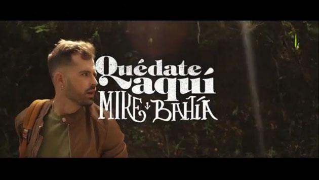 Mike Bahía mostró adelanto del videoclip 'Quédate aquí' [VIDEO]
