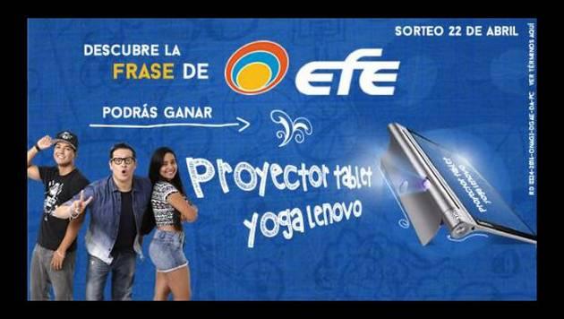 ¡Moda y Tiendas EFE regalaron 1 proyector tablet!
