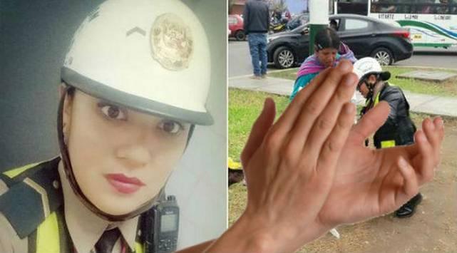 ¡Digno de imitar! Esta mujer policía demostró tener un gran corazón