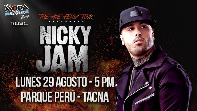¡Salieron los ganadores del concierto de Nicky Jam en Tacna!