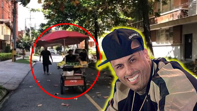 ¡Nicky Jam llegó a Colombia vendiendo frutas!